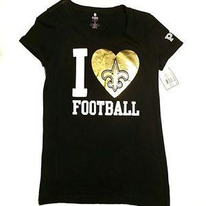 NWT T-shirt Fleur De Lis NFL Saints Football